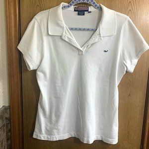 Vineyard Vines white polo shirt, Susie fit, large